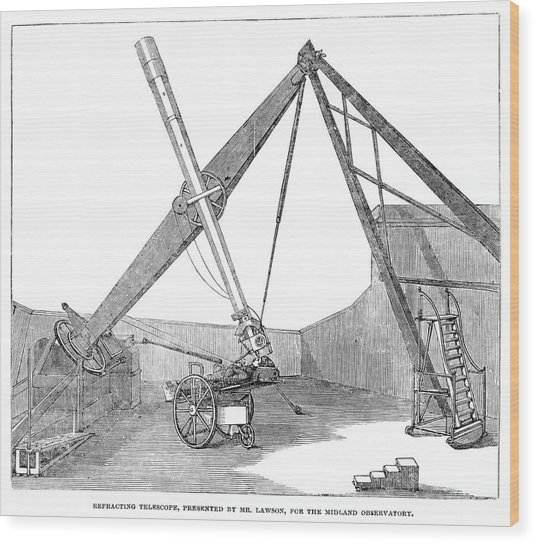 Lawson's Telescope Wood Print