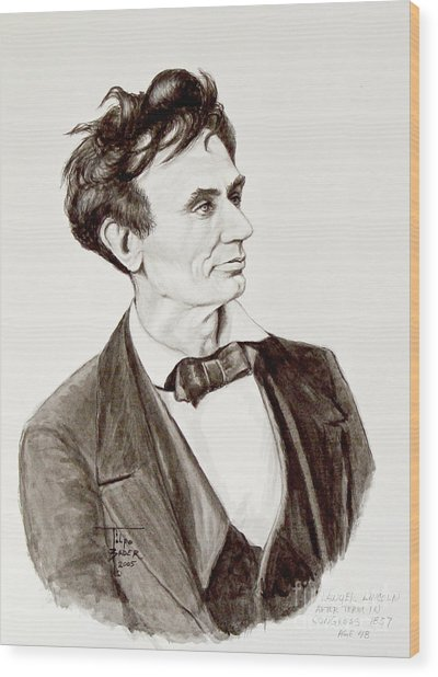Lawyer Abe Lincoln  Wood Print