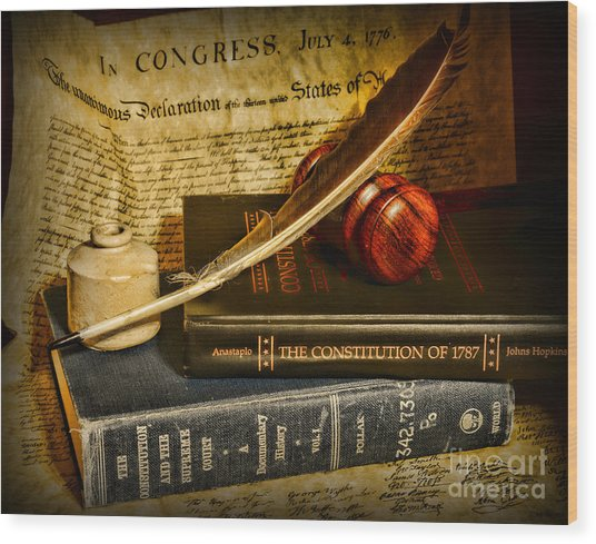 Lawyer - The Constitutional Lawyer Wood Print