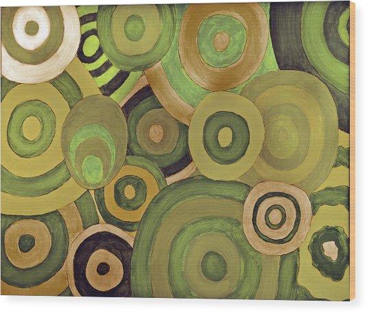 Layered Rings Wood Print