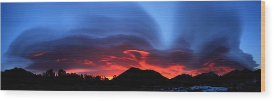 Layers In The Sky - Panorama Wood Print