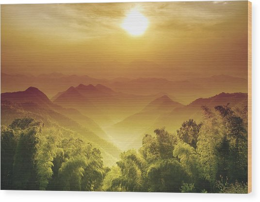 Layers Of Zhejiang (china) Wood Print by Andy Brandl