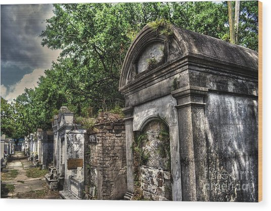 Layfayette Cemetery New Orleans Wood Print