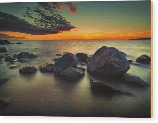 Lazy Sunset Wood Print