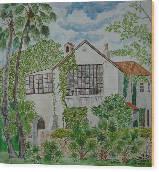 L.b. Clegg House In San Antonio Wood Print