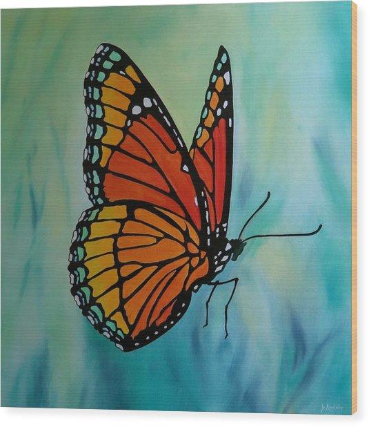 Le Beau Papillon Wood Print