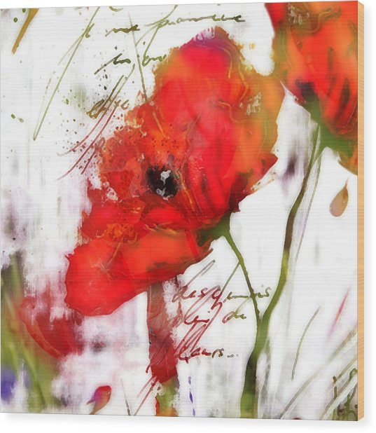 Le Coquelicot ... Wood Print