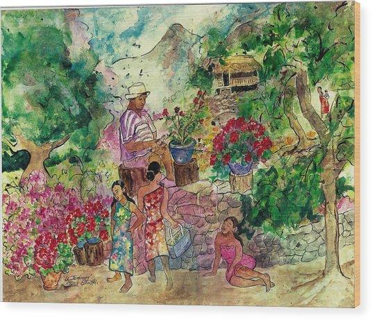 Le Jardiniere Wood Print