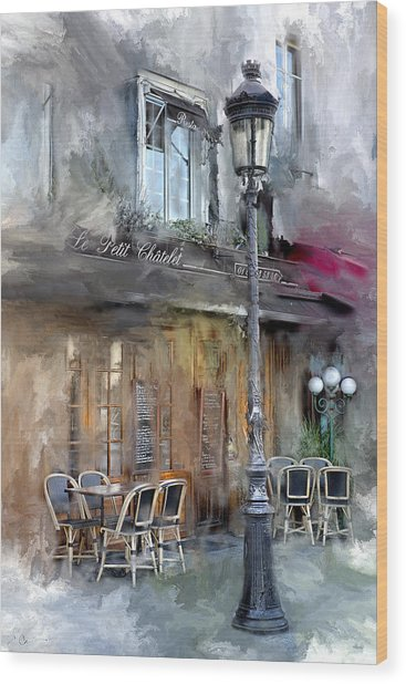 Le Petit Paris Wood Print