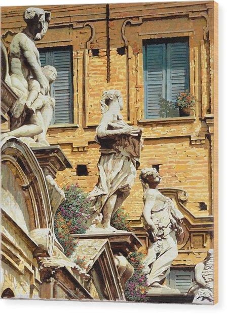 Le Statue Wood Print