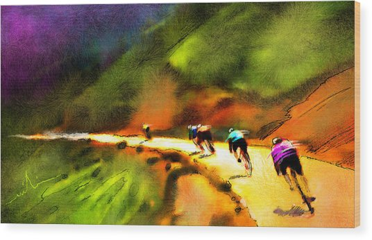 Le Tour De France 02 Wood Print