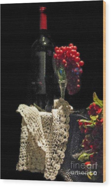 Le Vin Wood Print