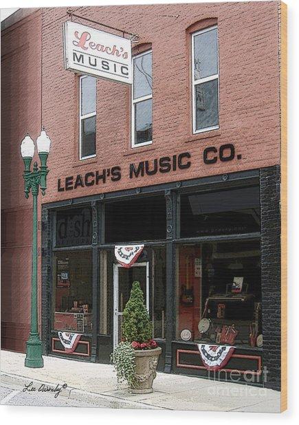 Leach's Music Wood Print