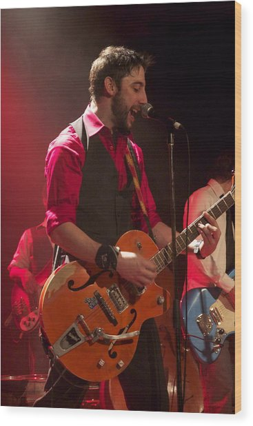 Leader Band Marco Wood Print by Jocelyne Choquette