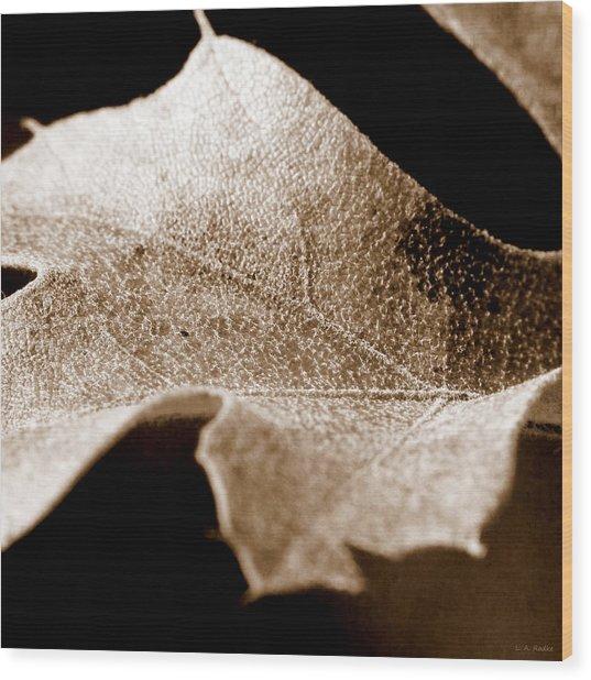 Leaf Collage 1 Wood Print