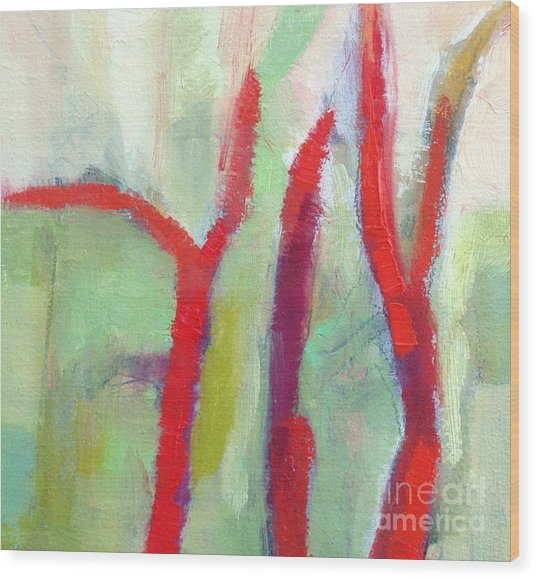 Leafless II  Wood Print by Virginia Dauth