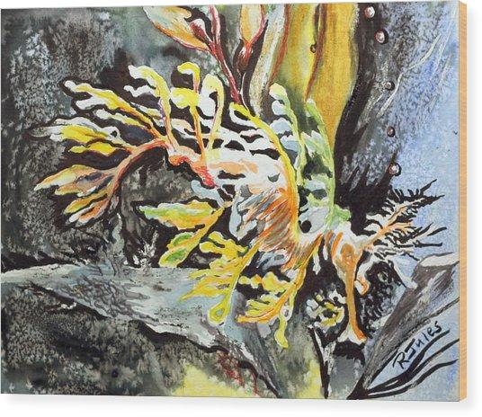 Leafy Dragon Wood Print