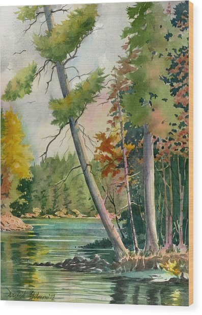 Leaning Pine Wood Print