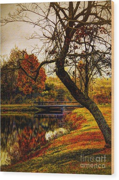 Leaning Toward Fall  Wood Print