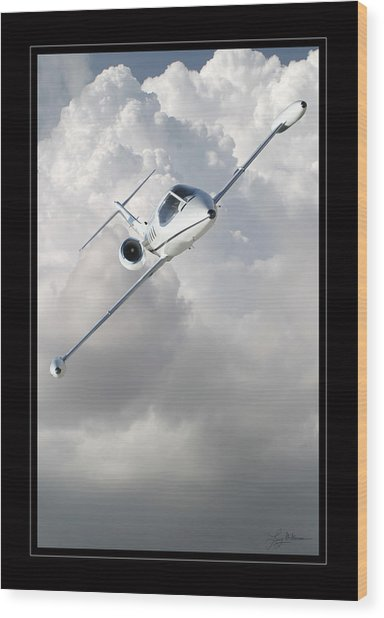Learjet Wood Print by Larry McManus