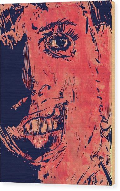 Leatherface Wood Print
