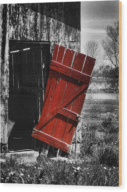 Leave The Door Open Wood Print