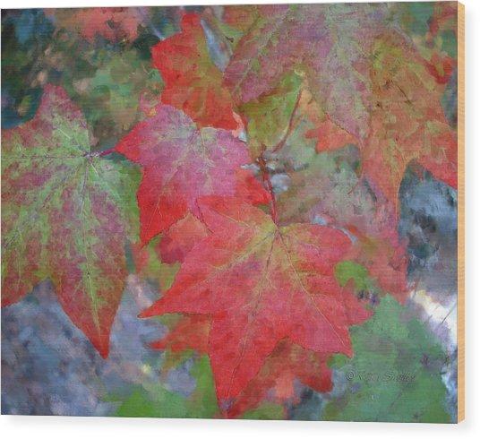 Leaves 2 Wood Print
