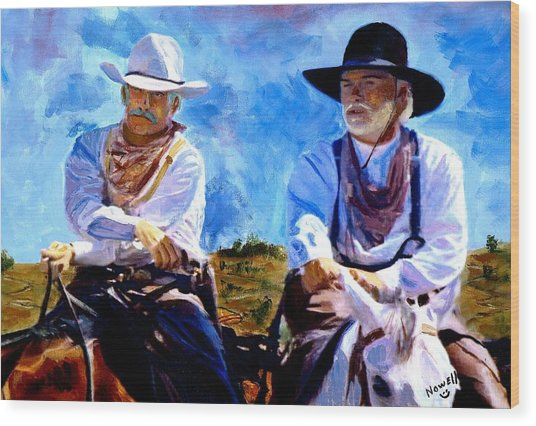 Leaving Lonesome Dove Wood Print