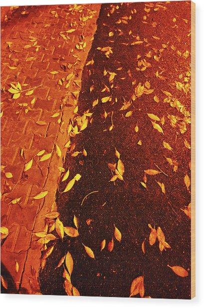 Leaving Past Wood Print by Atinderpal Singh