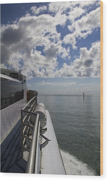 Wood Print featuring the photograph Leaving The Channel by Debbie Cundy