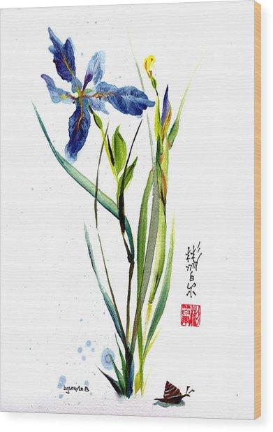 Leaving Zen Wood Print