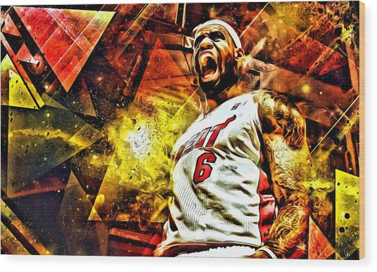 Lebron James Art Poster Wood Print