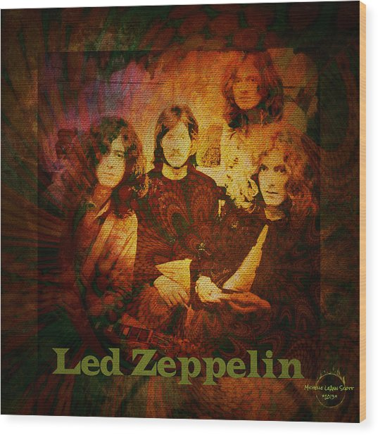 Led Zeppelin - Kashmir Wood Print