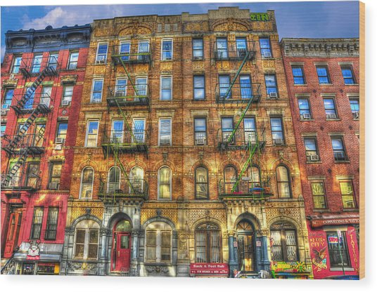 Led Zeppelin Physical Graffiti Building In Color Wood Print