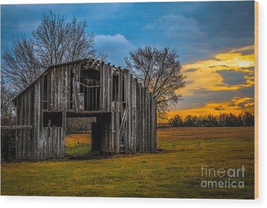 Leds Barn Wood Print