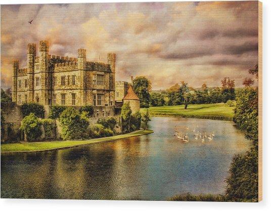 Leeds Castle Landscape Wood Print