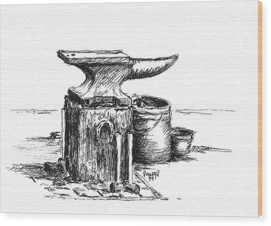 Lee's Anvil Wood Print