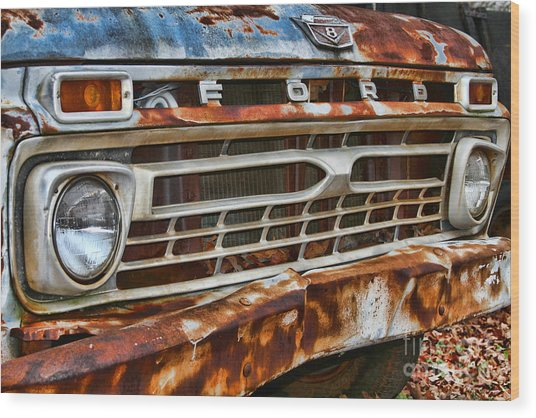 Left To Rust By Diana Sainz Wood Print
