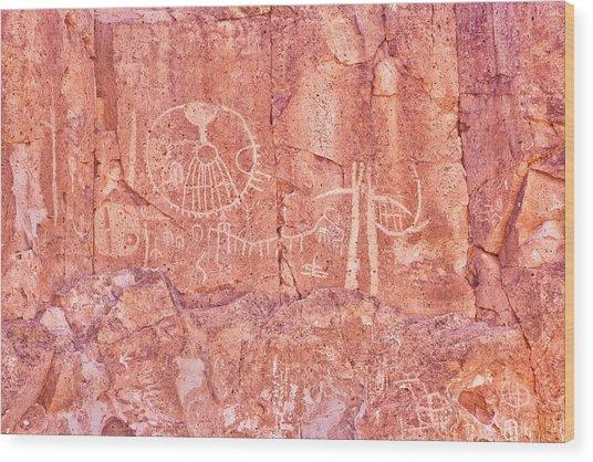 Petroglyphs Owens Valley California Wood Print