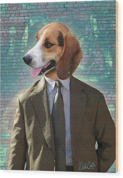 Legal Beagle Wood Print