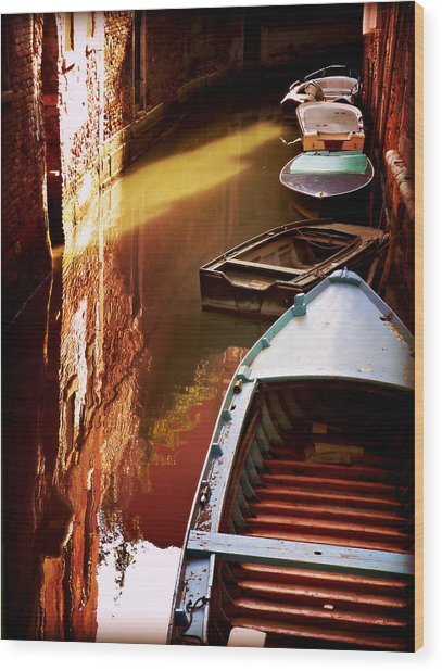 Legata Nel Canale Wood Print