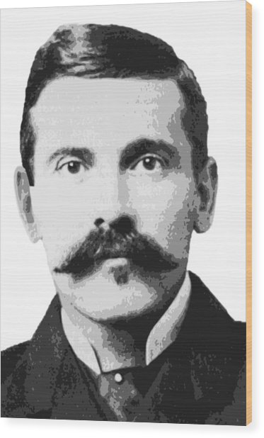 Legend Doc Holliday Wood Print