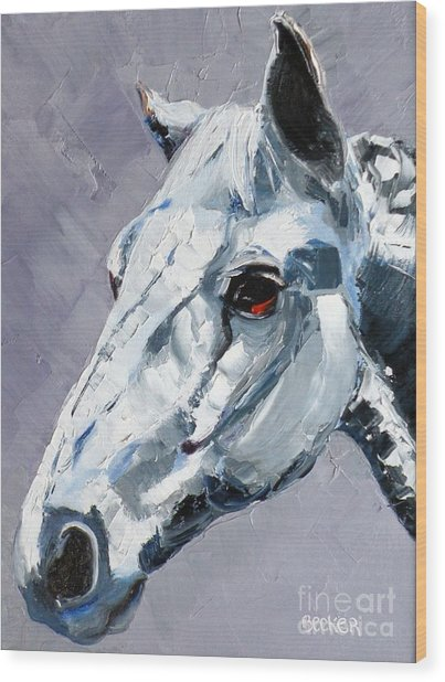 Legend - Sport Horse Wood Print