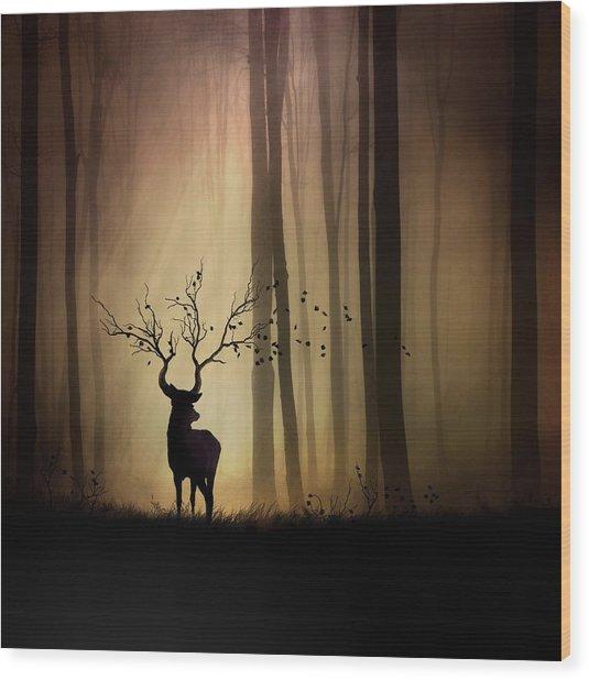 Legendes D'automne Wood Print