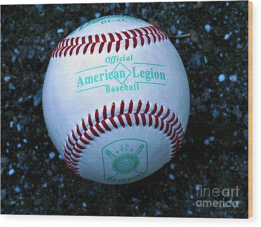 Legion Baseball Wood Print by Colleen Kammerer