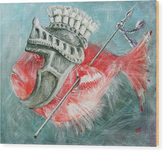 Legionnaire Fish Wood Print