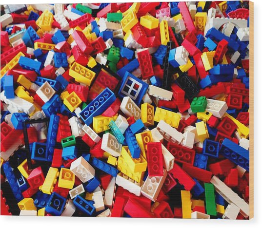 Lego - From 4 To 99 Wood Print