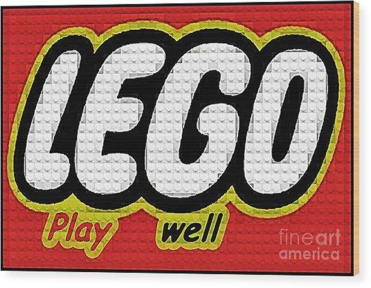 Lego Play Well Wood Print by Scott Allison