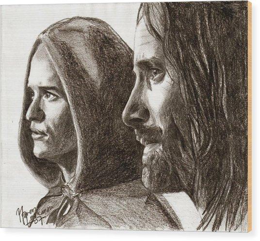 Legolas And Aragorn Wood Print