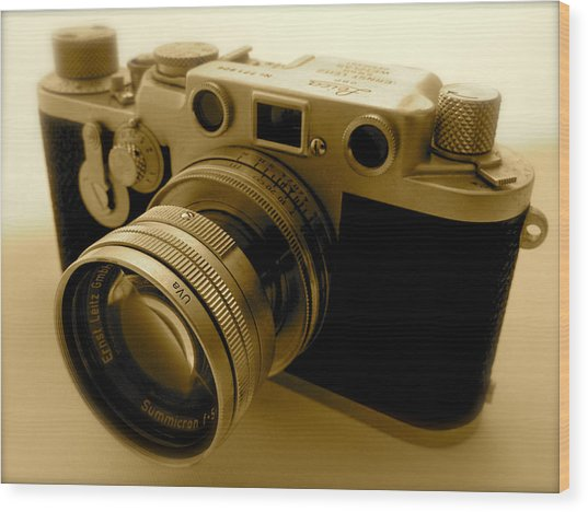 Leica Classic Film Camera Wood Print